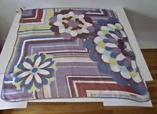 RARE Missoni NEW Old Stock Floral Geometric Print Silk Crepe Large Scarf NWT