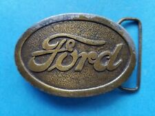 """Vintage 1977 """"FORD"""" Advertising Belt Buckle #CA 21 2nd Edition Car Automobile"""