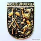 MJ Boot Volklingen -German Navy Bundesmarine Ship Tampion Plaque Badge Crest