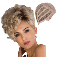 Blond Kinky Curly Short Hair Best Synthetic Curl Wig for Halloween Party women