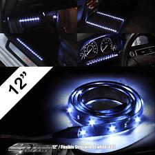 "Universal 12"" 30.5cm 12b Flexible 15 White SMD LED Strip 3M Adhesive Backing"