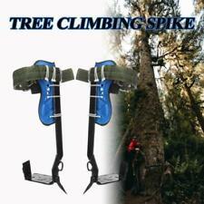Stainless Steel Tree Climbing Spike Set Safety Belt w/Gear Adjustable Lanyard