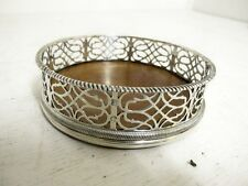 ANTIQUE STERLING SILVER WINE COASTER LONDON 1766