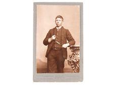 C. Kuijer & Zonen Amsterdam NETHERLANDS 1864 CDV Portrait Young Man Watch Chain