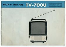 "Vintage Owners Manual: Sony ""TV-700U"" Television"