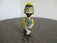 VINTAGE 1940'S MARX WIND-UP B.O. PLENTY (DICK TRACY) TOY W/ KEY WORKING - USA