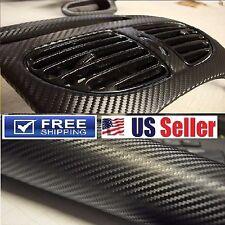 4D Gloss Premium Carbon Fiber Vinyl Wrap Sticker Decal Protection Film 6Ft x 5Ft