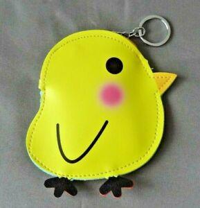 Big keyring Coin Purse Bag charm dangler Chick chicken bird cute
