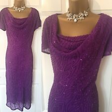 INSPIRATIONS DRESS SIZE 12 Purple Embellished OCCASION Cruise Evening Party,
