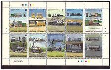 Grenade Grenadine 1024 à 1033  neufs** train chemin de fer railway ferrocarril