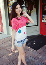 Polka Dot Rabbit Bunny Shirt Top Japan Japanese Korean Fashion blouse funky