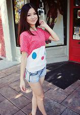 Polka Dot Rabbit Bunny Shirt Top Japan Japanese Korean Fashion blouse funky