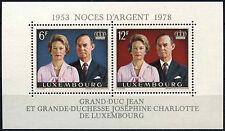 Luxembourg 1978 SG#MS1002 royal argent mariage neuf sans charnière m/s #D38978