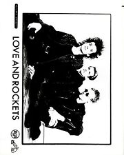 RARE Original Press Photo of Love and Rockets an Alternative Rock Band