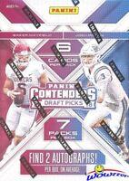 2018 Panini Contenders Football Draft Picks EXCLUSIVE Blaster Box-2 AUTOGRAPHS