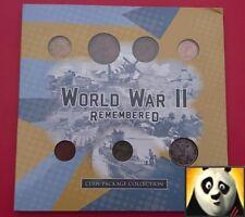 Assolutamente RARA seconda guerra mondiale WW2 ricordato COIN STAMP BANCONOTA Pack Collection