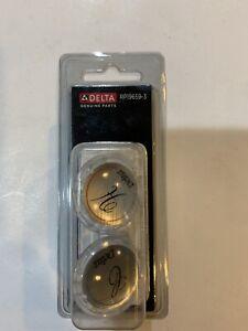Delta Clear Handle Button Set For Two Handle Kitchen / Lavatory Faucet RP19659-3