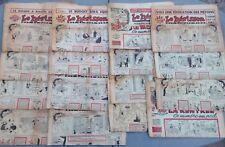 Lot de 16 anciens journaux satiriques LE HÉRISSON années 1951, 1952, 1953