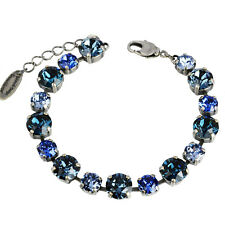 Grevenkämper Armband Swarovski Kristall Tennis blau Sapphire Montana Denim Blue