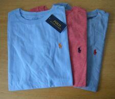 RALPH LAUREN Boys Tshirt tee t-shirt top Pony logo blue red AGE 6 to 12 Years