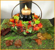 déco halloween - panier d'automne, chaudron et bougie