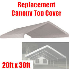 New listing 20 x 30 feet Roof Top Cover White Tarp for Replacement Outdoor Canopy Heavy Duty
