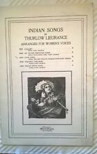 1917 Indian Songs (Lullaby) Thurlow Lieurance 10937