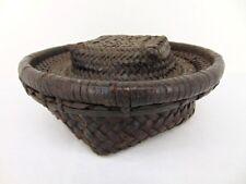 African Kuba Food Basket Rice Container Early 20th Century Belgian Congo
