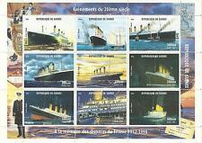GUINEA 1998 TITANIC MINI SHEET MINT