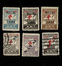OPC Lot of 6 Portugal with Natal Overprints tuberculosis Seals Cinderellas Used