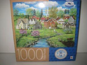 Crab Apple Creek Art Jigsaw Puzzle by Bob Fair 1000 Piece Premium Blueboard