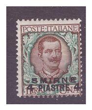 SMIRNE 1909  -     Piastre 4  su  Lire 1   NUOVO **