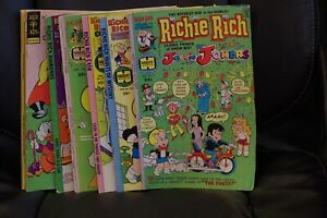 LOT OF 27 RICHIE RICH COMICS - NICE CONDITION - 1976, 1977, and 1978