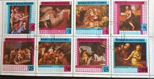 1978 Equatorial Guinea Full Set Of 8 Stamps in Block - Famous Paintings - PC/MNH