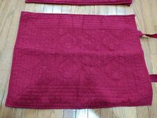 Pottery Barn Quilted Burgundy Standard Pillow Shams Set of 2
