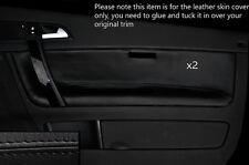 BLACK STITCH 2X FRONT DOOR CARD TRIM LEATHER COVERS FITS VOLVO C70 2006-2014