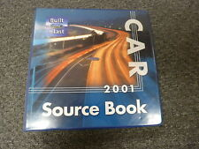 2001 Ford Mustang Coupe Convertible Dealer Source Data Manual GT Cobra 3.8L 4.6L