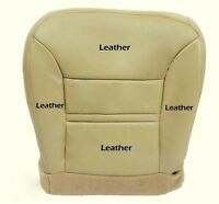 2000 2001 Ford Excursion Limited Driver-Side Bottom Leather-Seat Cover Parchment