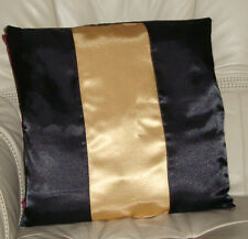 BLACK AND GOLD SATIN CUSHION COVER