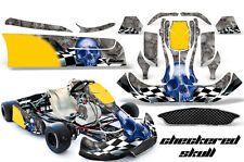 AMR Racing Graphics CRG NA2 Kart Wrap New Age Sticker Kit Decal CHECKERED SKULL