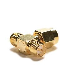 2X RP.SMA Jack macho a 2 RP-SMA Conector hembra T RF Conector Triple K&Y