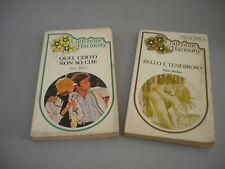 Lotto 2 libri COLLEZIONE HARMONY  primi anni 80