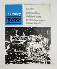 TYCO Electric Train Railroad Layout Sets Manual Pamphlet Dealer sheet 70's