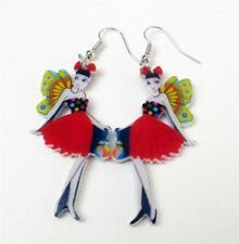 Butterfly Earrings - Madame Butterfly - Fairy Earrings Droppers Acrylic