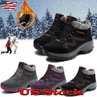 Women Winter Snow Shoes Fur Lined Warm Boots Non-slip Outdoor Sneakers Casual US