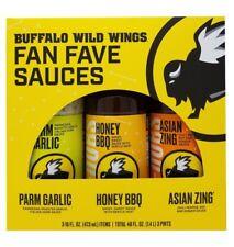 Buffalo Wild Wings Fan Fave Sauces Parm Garlic, Honey BBQ, Asian Zing 48 FL OZ