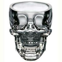 New Crystal Skull Head Vodka Whiskey Shot Glass Cup Drinking Ware Home Bar ZX