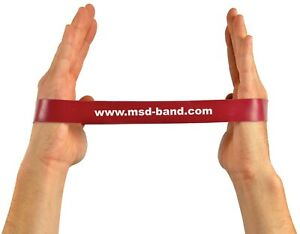 x1 RED Medium MoVeS Resistance Band Loop Exercise Strength Training