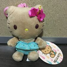 2017 New Sanrio Hello Kitty summer tan swimsuit plush keychain accessory!