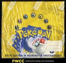 1999 Pokemon Base 1st Edition German Booster Box, Blue Wing Charizard Glurak?